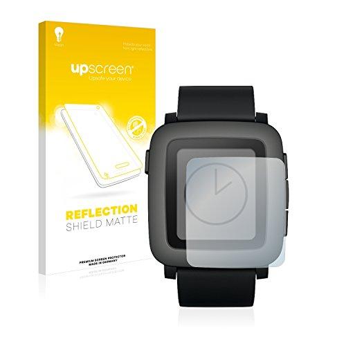 upscreen Entspiegelungs-Schutzfolie kompatibel mit Pebble Time – Anti-Reflex Bildschirmschutz-Folie Matt