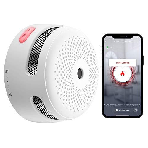 X-Sense Rauchmelder Wi-Fi mit austauschbarer Lithium-Batterie & Stummschalt-Taste, Smarter Feuermelder, Auto-Selbstüberprüfungsfunktion, entspricht EN 14604 Standard, XS01-WT