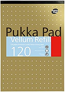 Pukka Pad Notebook Wirebound Vellum 80gsm Ruled and Margin 120 Pages A4 Ref VJM/1 [Pack of 3]