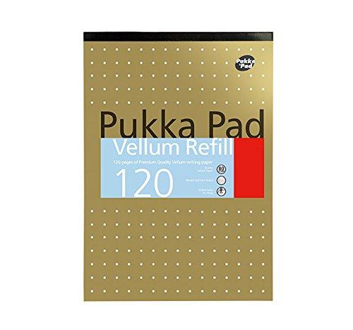 tama/ño A5, 80/g//m/², 200 p/áginas, 100 hojas color met/álico Cuaderno de rayas con margen y espiral Pukka Jotta