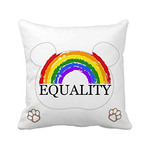 Gender Difference and Identity Rainbow Equality Coussin de Couvrir Les Ours
