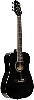 Stagg 6 String Acoustic Guitar, Right (SA20D 3/4 BK)