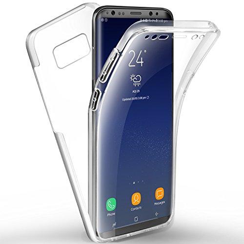 AROYI Cover Samsung s8 Custodia Samsung Galaxy S8 Trasparente Silicone TPU Anteriore e PC Posteriore Full Body Protettiva Cover per Samsung Galaxy S8 5,8 Pollice