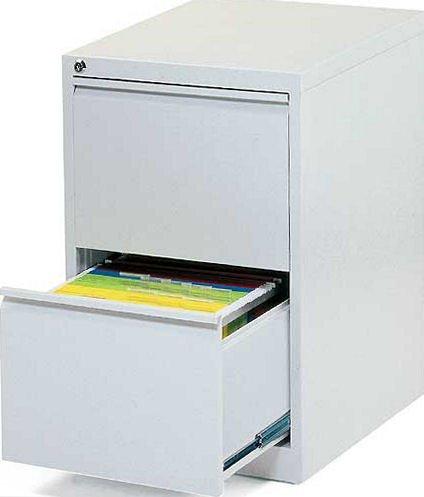 Profi Stahl Büro Hängeregistratur Schrank Bürocontainer 700 x 400 x 620mm (HxBxT) mit 2 Schüben, einbahnig 560210 kompl. montiert und verschweißt