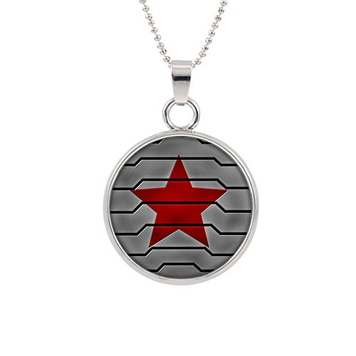 Winter Soldier Logo Necklace Pendant Marvel Comics 2018 Movies Cartoon Superhero Theme Bucky Barnes Premium Quality Detailed Cosplay Jewelry Gift Series