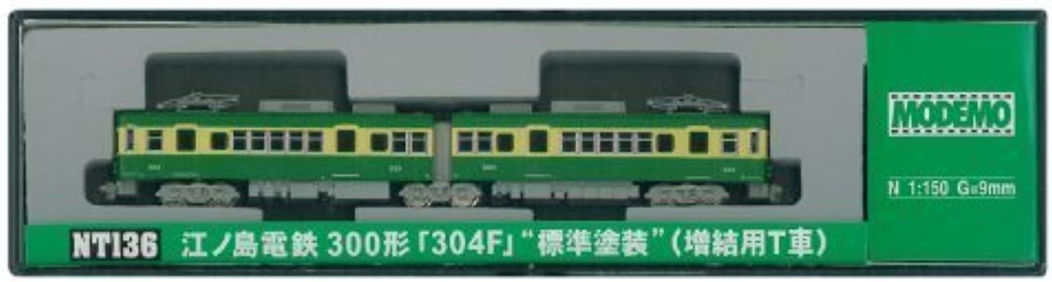 The N gauge NT136 Enoshima Electric Railway 300 form 304F standard painting (T car for adding cars)yJapanese plastic modelz by Hasegawa