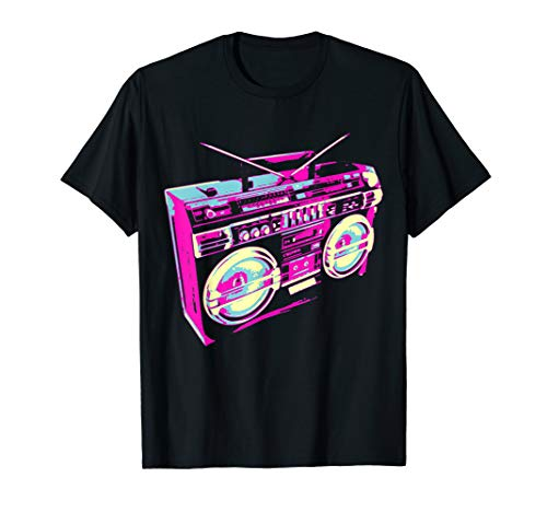 Cool 80s Boombox Stereo T-shirt