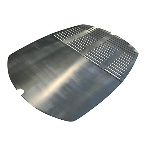 Grillrost + Grillplatte Kombination 2-teilig, Edelstahl V2A für Grills Weber Q300 Q320 Q3000 Q3100 / Q 300 Q 320 Q 3000 Q 3100 Q 3200