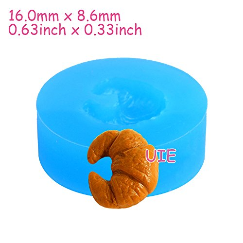 132LBG Croissant (17mm) Silicone Mold Flexible Mold - Miniature Food, Cupcake, Jewelry, Charms (Clay, Fimo, Wax, Fondant)