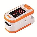 YANXS Dedo Oxímetro de Pulso Ligero Portátil Oxígeno Sanguíneo SpO2 Monitor Producto de saturación de Latido del corazón Multicolor Opcional, Oximetro Dedo Profesional,Naranja