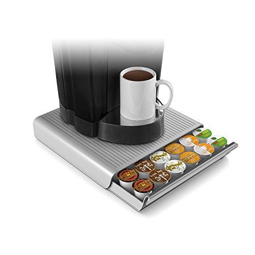Mind Reader Hero Coffee pod drawer, 12.91 w x 13.19 d x 2.83h, Gray