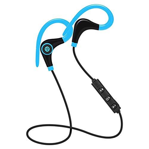 Lanrui Bluetooth Deporte Auricular inalámbrico Cancelación de Ruido Cancelación Auricular Auriculares Auriculares Auriculares con micrófono para iPhone Samsung Xiaomi (Color : 2)