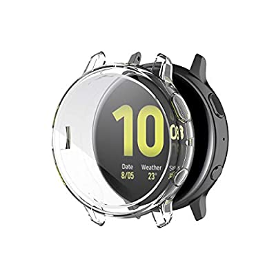 Shan-S 44mm Case Compatible for Samsung Active 2,Soft Ultra Slim Crystal Clear Shock-Proof All-Around Protective Coverage Cover Shell Case Bumper Defense Edge for Samsung Active 2 44mm Smartwatch