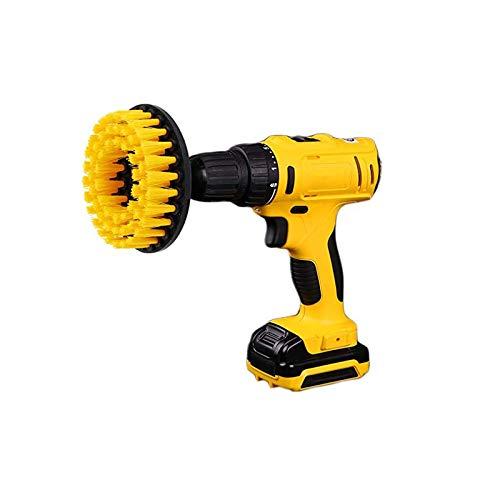 Kingbra Cepillo para taladro eléctrico de 5 pulgadas, accesorio de taladro de limpieza de dureza media, cepillo de limpieza para limpiar superficies de baño, azulejos y duchas (naranja1)