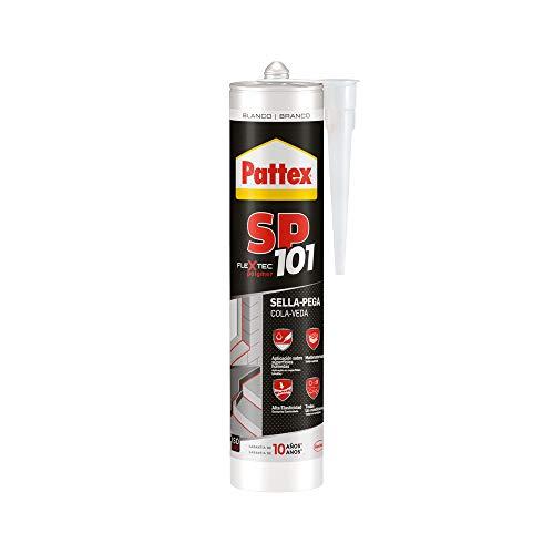 Pattex SP101 Original, Adhesivo Sellador para Interiores y Exteriores, Polímero Sellador Blanco Multimaterial, Sellador de Juntas en Cartucho, 1 x 280 ml