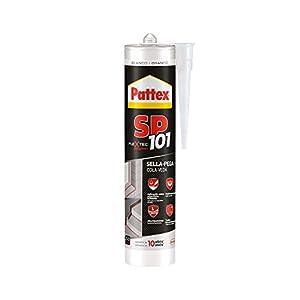 41pEwvj+RtL. SS300  - Pattex SP101 Original, Adhesivo Sellador para Interiores y Exteriores, Polímero Sellador Blanco Multimaterial, Sellador de Juntas en Cartucho, 1 x 280 ml