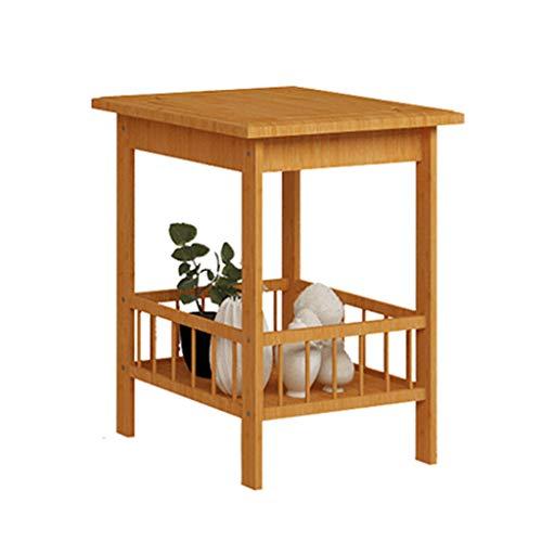Casiers de rangement Étagère de chambre à coucher support de rangement de cuisine de plancher de salon support de débris de bois solide de salle de bains (Color : Wood color, Size : 33 * 33 * 100cm)