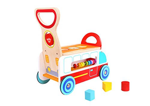 Tooky Toys- Tooky Toy Wooden Multi-Function Walker Juguete, Color multui (TKC568)