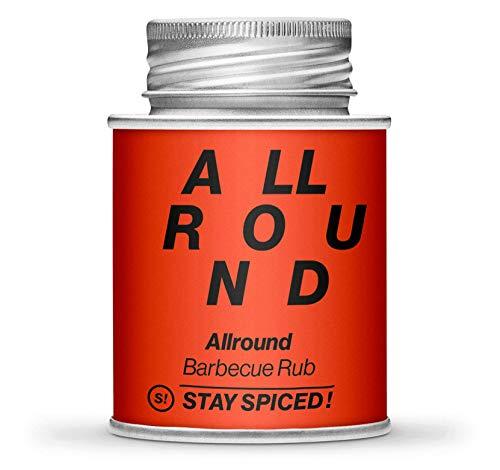 BBQ Allrounder von STAY SPICED ! Rib Rub I Marinade zum Grillen sowie als Bratengewürze geeignet I Verpackt in 170 gr Weißblechdose