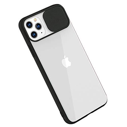 Rdyi6ba8 Cover per iPhone 11 PRO Max, Custodia CamShield [Protezione Fotocamera] Protettiva Trasparente Sottile Leggero Antiurto Hard PC Case per iPhone 11 PRO Max - Nero