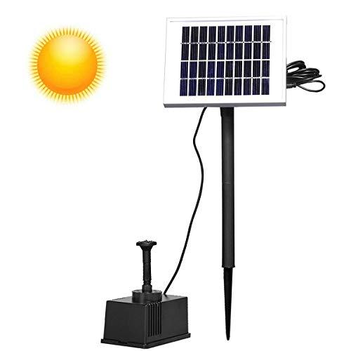 Aufun 2W Solarpumpe Teich Springbrunnen Teichpumpe Solar Bürstenlose Solarpumpe Solar Wasserspiel Fontäne Pumpe für Gartenteiche, Keine akku