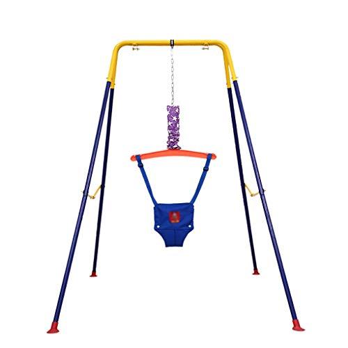 Saltador bebe Puente de bebé de la puerta con el soporte, los puentes de bebé y hamacas Umbral de fitness infantil estante divertido pasar Saltar asiento del columpio de rebote del entrenamiento del j