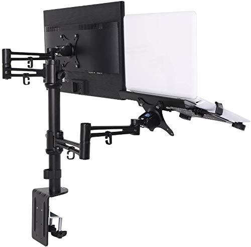 ThingyClub Adjustable Aluminium Universal Full Motion Desk Mount Arm Stand Bracket (LAPTOP & MONITOR ARM)