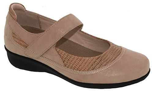Drew Shoes Genoa 14316 Women's Casual Shoe: Taupe 8.5 Medium (B) Velcro