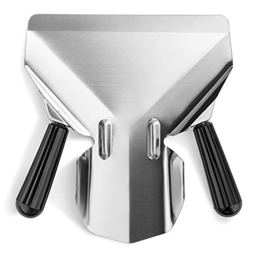 New Star Foodservice 37784 Stainless Steel Commercial French Fry Bagger with Dual Handle