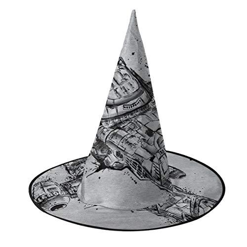 OJIPASD - Sombrero de Bruja de Sumo de Serenidad de luciérnaga, Unisex, Disfraz para Vacaciones, Halloween, Navidad, Carnaval, Fiesta