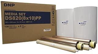 """DNP Pure Premium Media for DS820A Printer, 8x10"""" 130 Prints Per Roll, 2 Rolls Per Case (260 Total Prints)"""