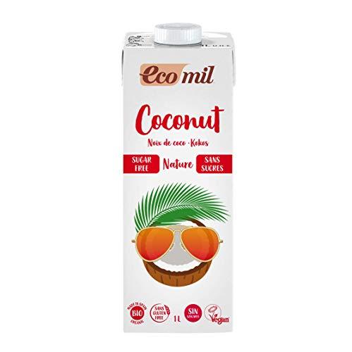 ECOMIL Boisson coco nature sans sucres et sans gluten 1L Bio -