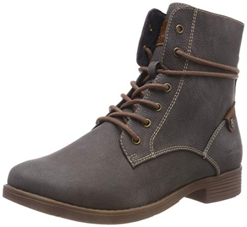 TOM TAILOR Damen 5892101 Stiefeletten, Grau (Coal 00013), 38 EU