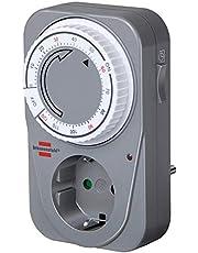 Brennenstuhl Countdown Timer MC 120, mechanische timer stopcontact (timer voor stopcontact met countdown functie en verhoogde aanraakbeveiliging) grijs