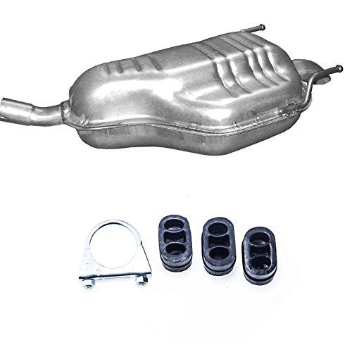 Auspuff Endtopf Endschalldämpfer + Montageware Neuware (passend für das angegebene Fahrzeug ,siehe Artikelbeschreibung)