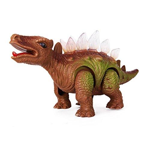 TOYMYTOY Elektronischer Spielzeug gehender Dinosaurier mit Lichtern und realistischen Gebrüll-Figur-Klängen