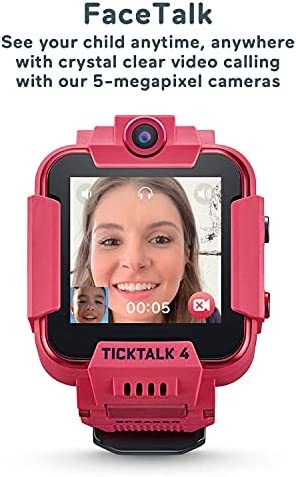 TickTalk 4 Unlocked 4G LTE Kids Smart Watch Phone withGPS Tracker, Combines Video, Voice and Wi-Fi Calling, Messaging, 2X Cameras & Free Streaming Music WeeklyReviewer