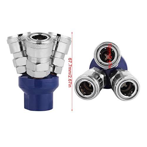 Conector neumático de 1/4'Racores rápidos Hembra Racores rápidos de aire superficie estañada para conexión de mangueras de aire para compresores de aire