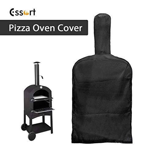 ESSORT Outdoor Pizza Oven Rain Cover for Outdoor Pizza Atmospheric Resistant Wood-Fired Carbon Fired Pizza Oven Bread Smoker Barbecue 160x37x50cm Black
