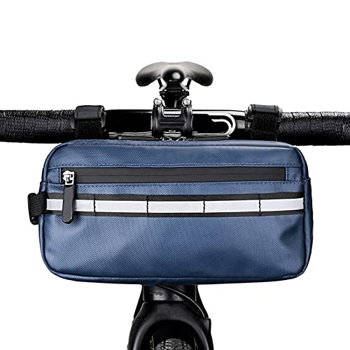 MMI-LX CXYUAN - Bolsa frontal para bicicleta, impermeable, gran capacidad, bolsa de almacenamiento para manillar de bicicleta de montaña (color D: D)
