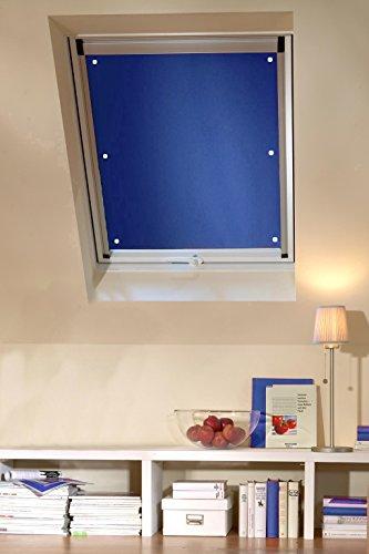 Clothink 96x100cm Thermo Sonnenschutz für Dachfenster   Hitzeschutz für Innen   ohne Bohren ohne kleben mit 6 stabil Saugnäpfe   große Auswahl für Velux + Roto Fenster   1Stück dunkelblau