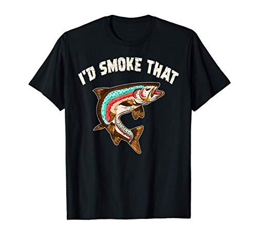 Je fumerais ce saumon en pêchant au barbecue Cadeau du chef T-Shirt
