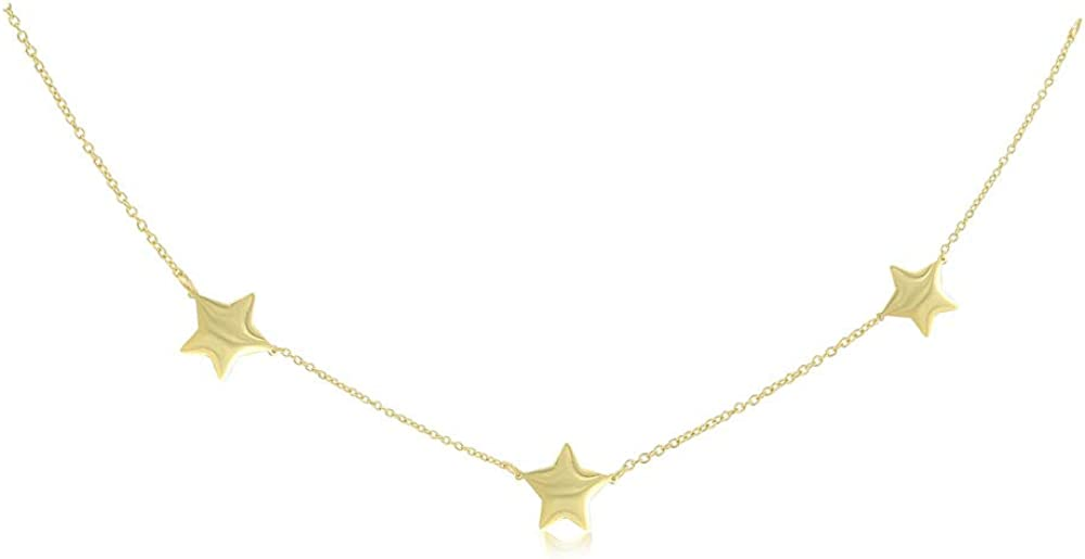 JR Max 83% OFF Joy OFFicial and Rachel 14K Gold Dainty Plated Necklac Sterling Silver