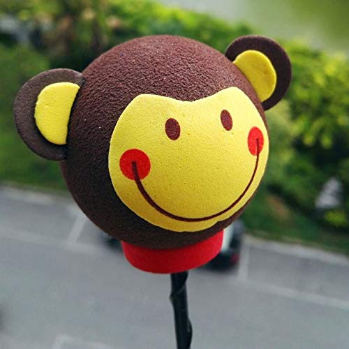 Cute Funny Car Modified Antenna Ball Plush EVA Foam Aerial Toppers Decoration Car Styling Roof Ornament 1 Piece