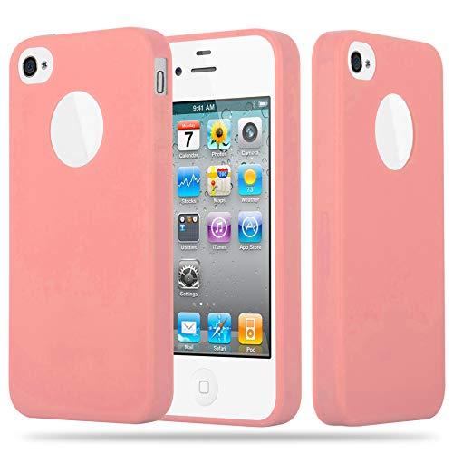 Cadorabo Funda para Apple iPhone 4 / iPhone 4S en Candy Rosa – Cubierta Proteccíon de Silicona TPU Delgada e Flexible con Antichoque – Gel Case Cover Carcasa Ligera
