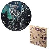 Puckator Guidance-Reloj de Pared, diseño de Lobo, Mixto, Height 30cm Width 30cm Depth 2.5cm