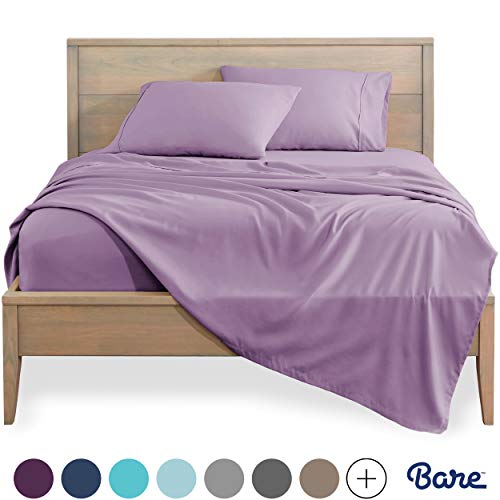 Bare Home Twin XL Sheet Set - College Dorm Size - Premium 1800 Ultra-Soft Microfiber Sheets Twin Extra Long - Double Brushed - Hypoallergenic - Wrinkle Resistant (Twin XL, Lavender)