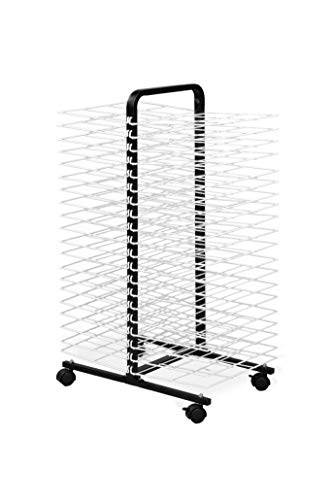 American Educational Products A-C1168 Drying Rack on Wheels, 40 Shelf, 7' Height, 18' Wide, 48' Length