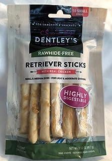 "Dentleys Rawhide-Free Retriever Sticks with Real Chicken 10 Count Sticks 5"" Each Stick"