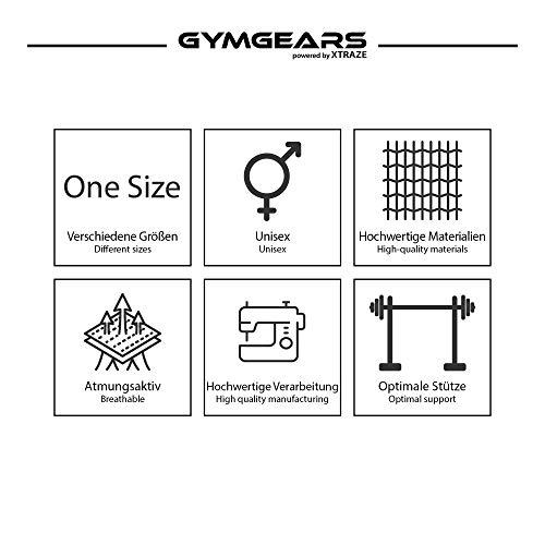 Handgelenkbandage [2er Set] Wrist Wraps 45 cm – Profi Bandagen für Kraftsport, Bodybuilding, Powerlifting, CrossFit & Fitness – Schwarz / Grau - 4